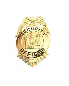 Security Officer Gold Badge Small
