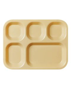GI Plastic 5 Compartment Mess Tray