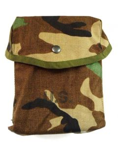 GI Woodland Camo 200 Round SAW Pouch Snap Closure
