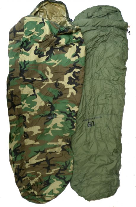 Gi 6 Piece Extreme Cold Weather Sleeping Bag System Woodland Camo