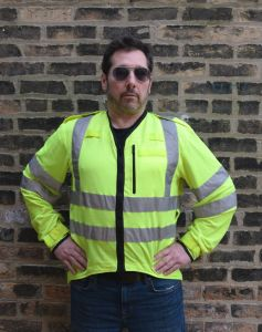 British Police Long Sleeve Reflective Zippered Overshirt