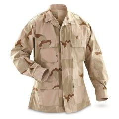 GI 3 Color Desert Camo BDU Shirt New