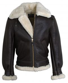 Classic WWII Style B-3 Sheepskin Leather Bomber Jacket