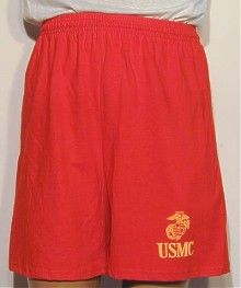 USMC Screen Printed Running Shorts