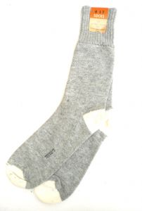 2 Pack Of Quality Gray Boot Socks