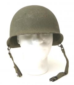 Used GI WWII Front Seam M1 Steel Pot Helmet