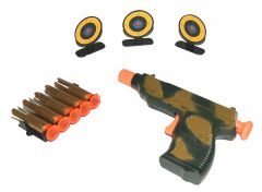 Kids 9mm Toy Gun and Target Set