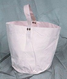 White Bail-out Bucket Bag