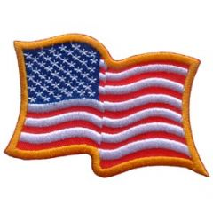 PATCH-FLAG USA,WAVY,LD