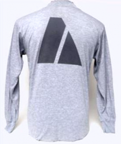 Long Sleeve GI Grey Army PT Shirt Back Printing Only