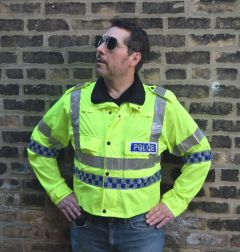 British Police Long Sleeve Reflective Lightweight Jacket