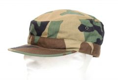 GI Woodland Camouflage Ripstop Hot Weather BDU Hat