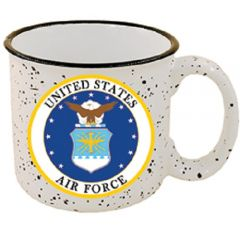 US Air Force Stone Speckled Coffee Mug