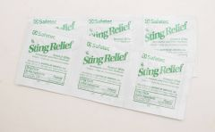6 Pack of Safetec Insect Sting Relief Pad Wipes