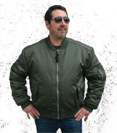 Headquarters MA-1 Style Bomber Jacket OD Green