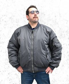 Headquarters MA-1 Style Bomber Jacket Gunmetal Gray
