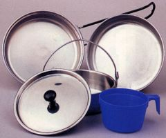 STAINLESS STEEL 5-PIECE MESS KIT