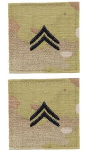 GI Army Corporal Rank Pair OCP with Hook and Loop