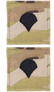 GI Army Specialist 4 Rank Pair OCP with Hook and Loop