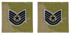 GI Space Force Embroidered Tech Sergeant Rank with Hook and Loop