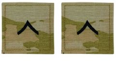 GI Army Private Rank Pair OCP with Hook and Loop