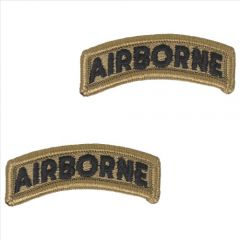 GI Army Airborne Tab Pair OCP with Hook and Loop
