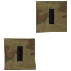 GI Army First Lieutenant Rank Pair OCP with Hook and Loop