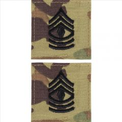 GI Army First Sergeant Rank Pair OCP with Hook and Loop
