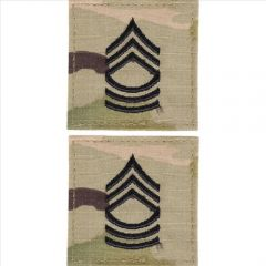 GI Army Master Sergeant Rank Pair OCP with Hook and Loop