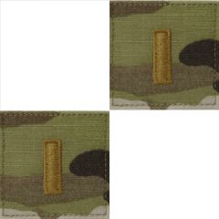 GI Army Second Lieutenant Rank Pair OCP with Hook and Loop
