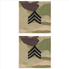 GI Army Sergeant Rank Pair OCP with Hook and Loop