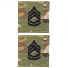 GI Army Sergeant First Class Rank Pair OCP with Hook and Loop