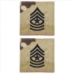 GI Army Sergeant Major Rank Pair OCP with Hook and Loop
