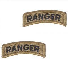 GI Army Ranger Tab Pair OCP with Hook and Loop
