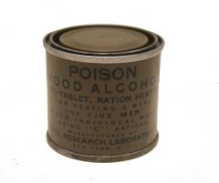 GI WWII Wood Alcohol C Ration Heater Can