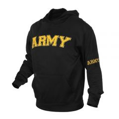 Army Embroidered Pullover Hoodie