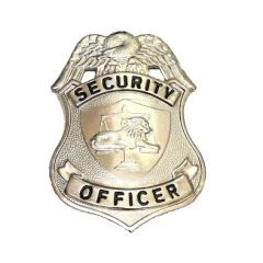 Security Officer Pin Badge Silver 3 Inch
