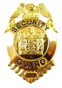 Small Gold Security Guard Badge
