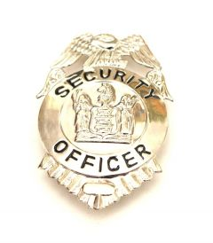 Security Officer Silver Badge Small