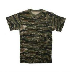 Short Sleeve Tiger Stripe Camouflage T-Shirt