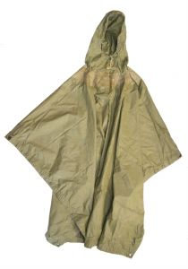 GI Issue Ripstop Poncho OD Green Used