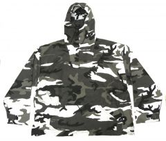 US Made Urban Camo Anorak Pull Over Hooded Jacket