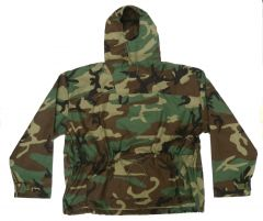 US Made Woodland Anorak Pull Over Hooded Jacket