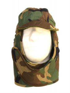 GI Cold Weather Insulated Helmet Liner Hood Woodland